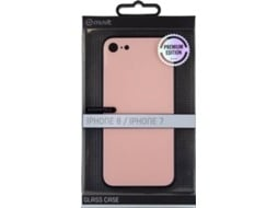 Capa MUVIT Glass iPhone 7, 8 Rosa — Compatibilidade: iPhone 6, 6s, 7 ,8