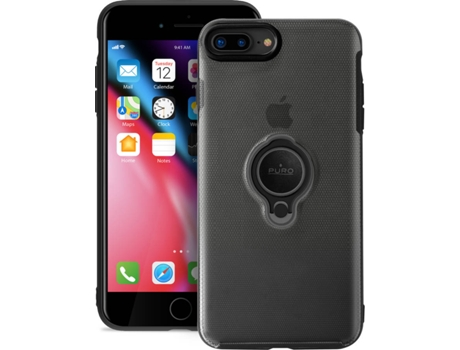 Capa iPhone 6 Plus, 6s Plus, 7 Plus, 8 Plus PURO Magnet Ring Preto — Compatibilidade: iPhone 6 Plus, 6s Plus, 7 Plus, 8 Plus
