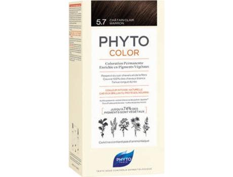 Coloração PHYTO Phytocolor 5.7 Castanho Claro Marron Coloração Permanente Sem Amoníaco