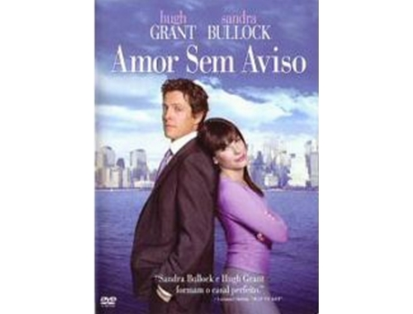 DVD Amor Sem Aviso — De: Marc Lawrence | Com: Sandra Bullock,Hugh Grant,Alicia Witt,Heather Burns,Robert Klein