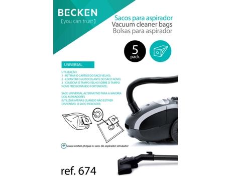 Sacos de Aspirador BECKEN REFª674 (5 unidades) | [4264612 ]