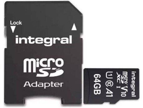 Cartão de memória INTEGRAL V10 - INMSDX64G-100V10 (64 GB, Classe 10 - UHS-1)   [6883727 ]