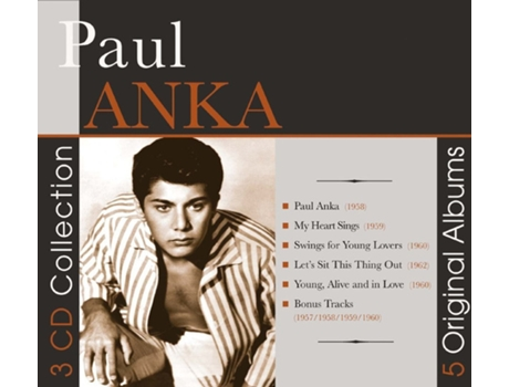 CD Paul Anka - 5 Original Albums