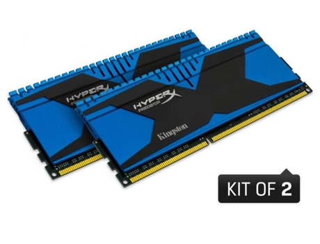 Memória RAM DDR3 KINGSTON HyperX Predator 2x4 GB (1866 MHz - CL 9 - Azul) — 2 x 4 GB | 1866 MHz | DDR3