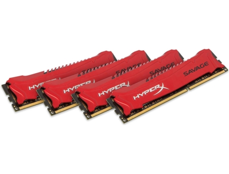 Memória RAM KINSGTON DDR4 32GB 1600MHz CL19 HyperX Savage ( Kit de 4) — 4 x 8 GB | 1600MHz | DDR3