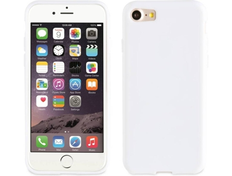 Capa MUVIT Crystal Soft iPhone 7, 8 Branco — Compatibilidade: iPhone 6, 6s, 7 ,8