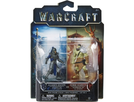Pack Mini Figuras WARCRAFT Alliance Soldier VS Horde Warrior — Tamanho: 6 cm