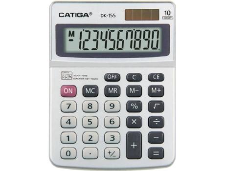 CALCULADORA CATIGA SECRETÁRIA DK155 SILVER | [6195771 ]