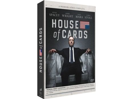 DVD House Of Cards - Temporada 1 — De: David Fincher | Com: Kevin Spacey, Michael Gill, Robin Wright