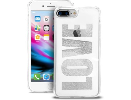Capa PURO Aqua Love iPhone 7 Plus, 8 Plus Branco — Compatibilidade: iPhone 6 Plus, 6s Plus, 7 Plus, 8 Plus