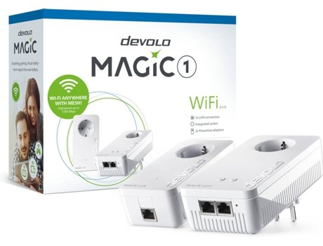 Powerline Starter Kit DEVOLO Magic 1 Wi-Fi Mesh (AC1200 - 1200 Mbps) — 1200 Mbps