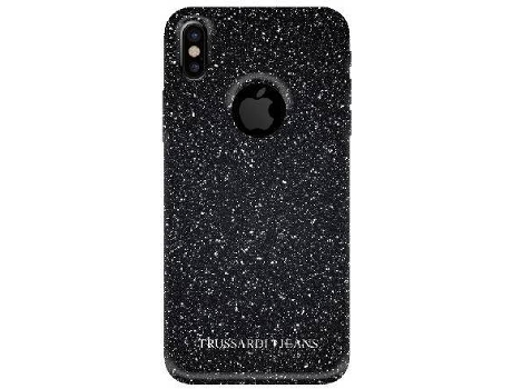 Capa TRUSSARDI Glitter Total iPhone X Preto — Compatibilidade: iPhone X