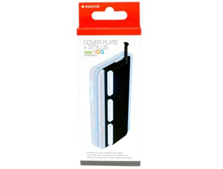 Coverplate + Stylus WOXTER Nintendo 3DS — Compatibilidade: Nintendo 3DS