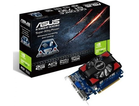 Placa Gráfica ASUS GeForce GT 730 (NVIDIA - 2 GB DDR3) — NVIDIA | GeForce GT 730 | 700 MHz | 2 GB
