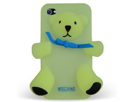 Capa MOSCHINO Bear Gennarino Phosph iPhone 4, 4s Amarelo — Compatibilidade: iPhone 4, 4s