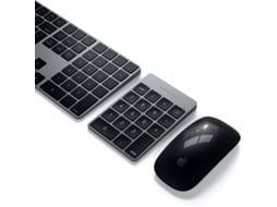 Teclado Wireless SATECHI Aluminum Slim Rechargeable Bluetooth em Cinzento sideral — Universal | Bluetooth | Mecânico