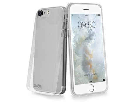 Capa SBS Extra Slim iPhone 6, 6s, 7, 8 Transparente — Compatibilidade: Apple iPhone 6, 6s, 7, 8