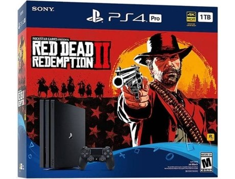 Consola PS4 Pro 1 TB + Jogo Red Dead Redemption 2 — 1 TB