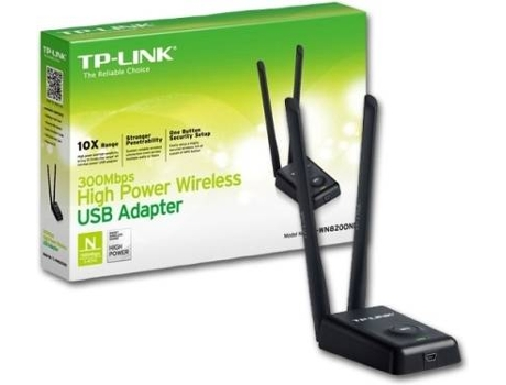 Adaptador Wireless TP-Link 300Mbps High P USB WN8200ND — Adaptador USB | 300 Mbps