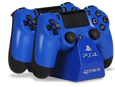 Auscultadores PS4 Twin Play n' Charge Azul — PS4