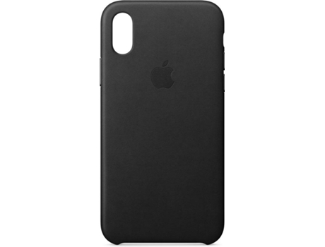 Capa APPLE Leather iPhone X Preto — Compatibilidade: iPhone X
