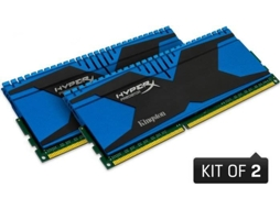 Memória RAM DDR3 KINGSTON HyperX Predator 2x4 GB (2400 MHz - CL 11 - Azul) — 2 x 4 GB | 2400 MHz | DDR3