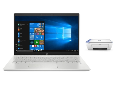 Pack Portátil HP Pavilion 14-CE0019NP (14'' - Intel Core i5-8250U - RAM: 8 GB - 128 GB SSD - NVIDIA GeForce MX 130) + Impressora HP DeskJet 2630 — Windows 10 Home | Full HD