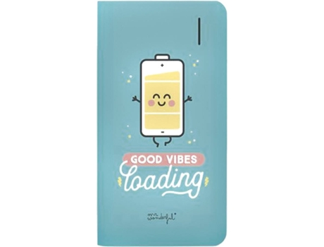 Powerbank MR. WONDERFUL Good Vibes Azul — 6000 mAh