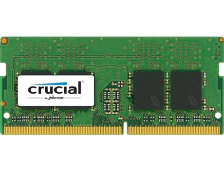 Memória RAM SO-DIMM CRUCIAL Value 8GB (1x8GB) DDR4-2133MHz CL15 Dual Ranked — 8GB / DDR4 / 2133MHz