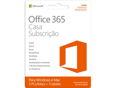 Software MICROSOFT Office 365 Home Premium — Software / Produtividade