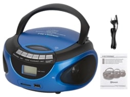 Rádio CD Bluetooth METRONIC azul 477129 — Digital