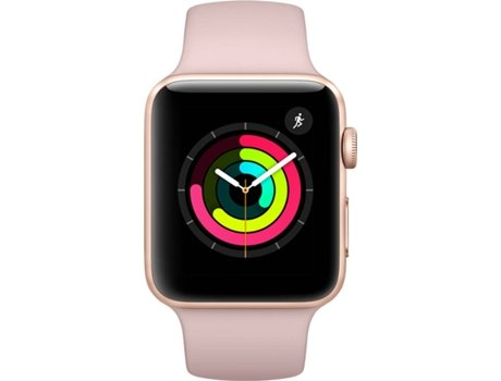 APPLE Watch Series 3 42mm Gold Aluminium Case Pink Band — iOS / 42 mm / Bluetooth 4.2 e Wi-fi