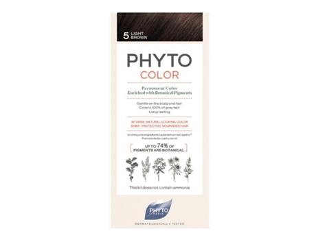 Coloração PHYTO Phytocolor Permanente 5 Castanho Claro