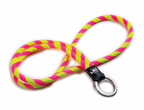 Fita Porta-Chaves O. LANYARDS Leis Classic Rosa e Amarelo — Para Chaves