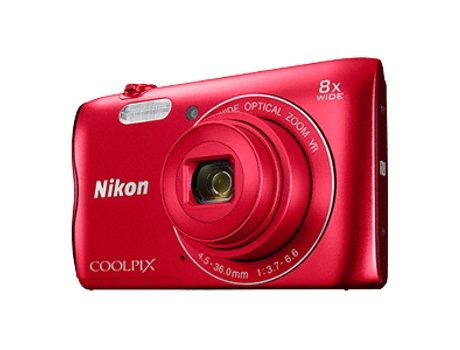 Máquina Fotográfica NIKON Coolpix A300 Red — 20 MP