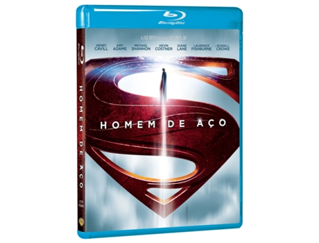 Blu-Ray Homem de Aço — De: Zack Snyder | Com: Henry Cavill, Amy Adams, Michael Shannon, Diane Lane, Russell Crowe, Antje Traue, Kevin Costner, Laurence Fishburne