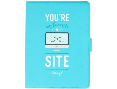 Capa para Tablet 10.1'' MR.WONDERFUL You Are My Favorite Site Azul — Para Tablet 10.1''