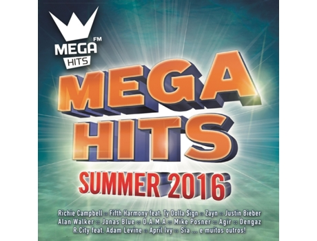 CD Vários - Megahits Summer 2016 — Pop-Rock
