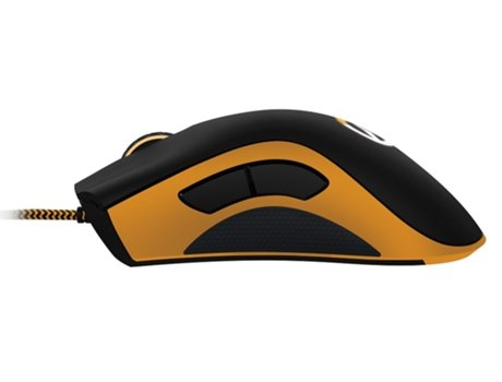 Rato Gaming RAZER Overwatch Razer DeathAdder (PC - Gold-plated USB) — Com fios | Preto | Amarelo