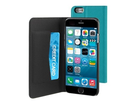 Capa MUVIT Wallet iPhone 6, 6s Azul — Compatibilidade: iPhone 6, 6s