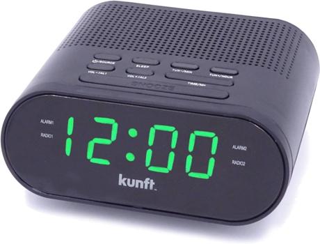 Rádio Despertador KUNFT KTCR3846 (Preto - PPL - Alarme Duplo - Função Snoozer - Corrente) | [6655180