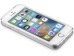 Capa CELLULAR LINE Clear Duo iPhone 5, 5s, SE Transparente — Compatibilidade: iPhone 5, 5s, SE
