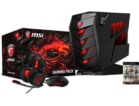 Desktop Gaming MSI AEGIS 3 VR7RC-003EU + Auscultadores + Rato + Jogo For Honor — Intel Core i7-7700K / 8 GB / 2 TB + 256 GB