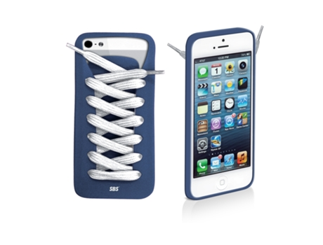 Capa SBS Shoelace iPhone 5, 5s, SE Azul — Compatibilidade: iPhone 5, 5s, SE