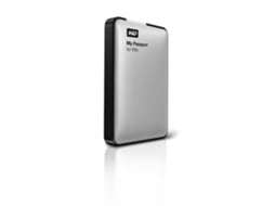 Disco Externo 2,5'' WESTERN DIGITALl Passport p/MAC 1TB Prata — 2.5'' | 1 TB | USB 3.0