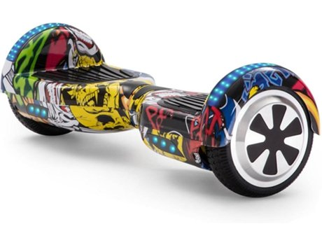 Hoverboard E Rides 6 5al 7 Grafite Amarelo Autonomia 2 H Velocidade Máx 12 Km H Worten Pt