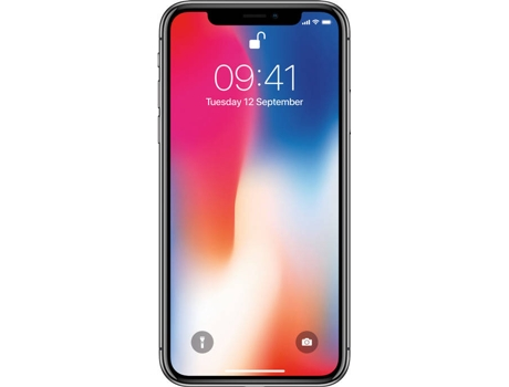 Smartphone APPLE iPhone X 64GB Cinzento sideral — iOS 11 / 5.8'' / A11