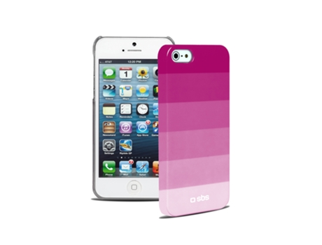 Capa SBS Rainbow iPhone 5, 5s, SE Rosa — Compatibilidade: iPhone 5, 5s, SE