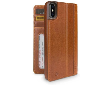 Capa TWELVE SOUTH Journal Cognac iPhone X, XS Castanho — Compatibilidade: iPhone X, XS