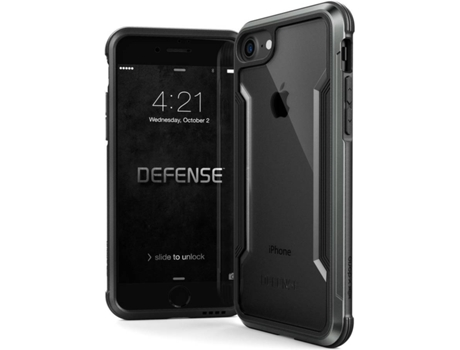 Capa XDORIA Defense iPhone 7, 8 Preto — Compatibilidade: Apple iPhone 7, 8